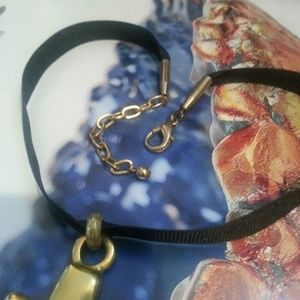 Vintage Jewelry - Vintage Catherine Stein gold cross choker necklace
